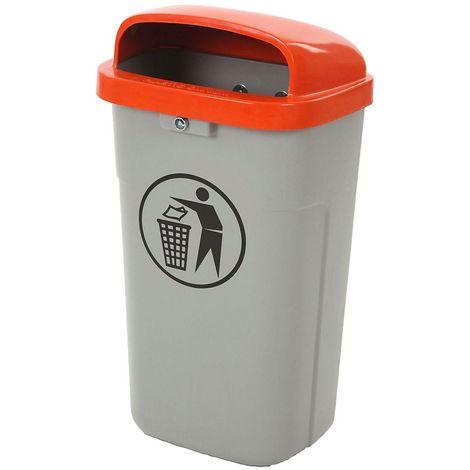 Collecteur de déchets, capacité 50 l, h x l x p 755 x 435 x 345 mm, gris, vert