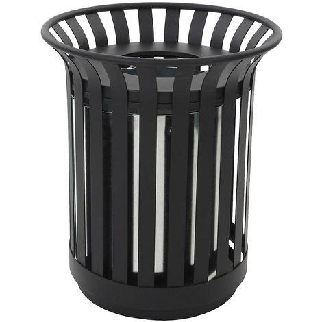 avec cendrier et toit de protection Collecteur de d/échets pour lext/érieur capacit/é conteneur 80 l gris noir bac /à cendres cendrier cendrier sur pied collecteur de cendres collecteur de d/échets combin/é cendr