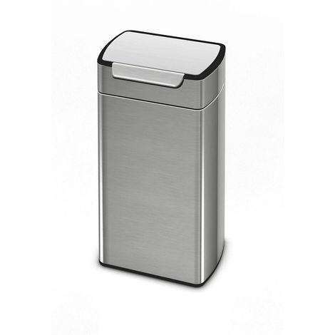 Collecteur de déchets Touch, inox mat, capacité 30 l