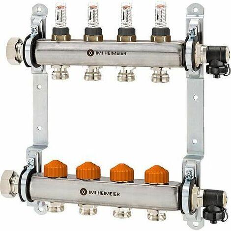 Collecteur de plancher chauffant Inox type Dynacon 7 circuits