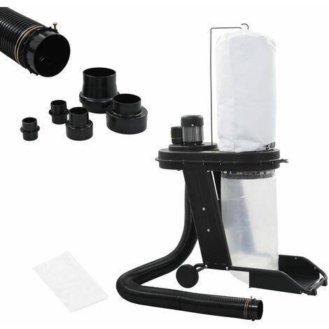 Collecteur de poussière avec adaptateur Noir 550 W