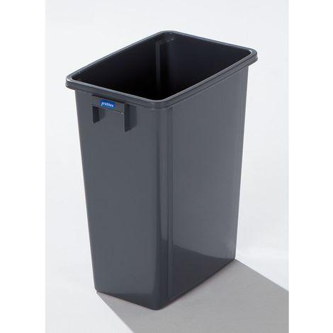 Collecteur de tri en plastique - capacité 60 l - ouverture rectangulaire, pictogrammes de tri