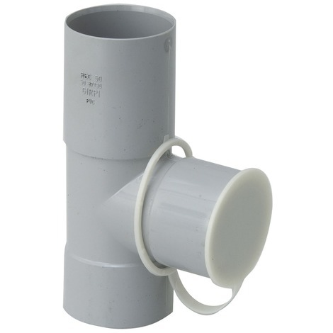 Collecteur d'eau de pluie Girpi - Femelle / Femelle - Diamètre 50 mm - Gris