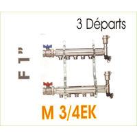 """Collecteur départ/arrivée pour radiateur - alimentation : 1"""" - M3/4EK"""