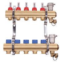 Collecteur laiton brut pre-monte plancher chauffant basse temperature - entrées F26/34 - 2 départs 3/4EK