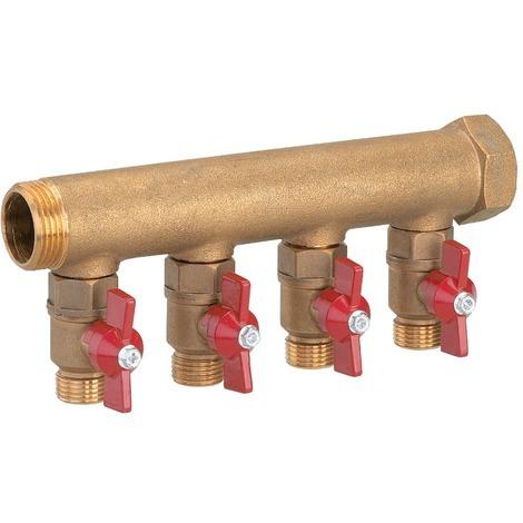 Collecteur modulaire sanitaire chauffage 2 départs m20x27 e/s M 15x21