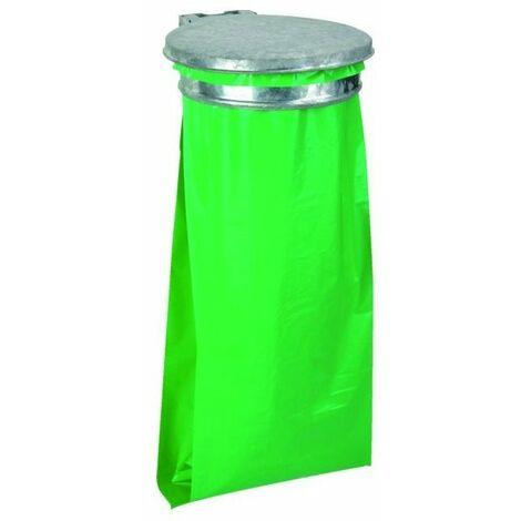Collecteur support de sac ecollecto vert sans couvercle