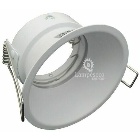 Collerette Spot encastrable basse luminance blanc, non eblouissant, pour ampoule GU10 / MR16 ref 844