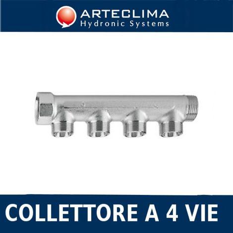 COLLETTORE RISCALDAMENTI OTTONE F.F 3//4 X 1//2 M 6 VIE CON RUBINETTI