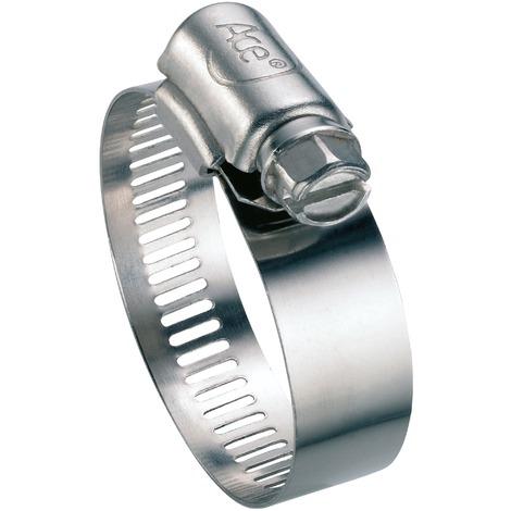 Collier à bande perforée W4 largeur bande 13 mm Ace - Diamètre 18 - 28 mm - Vendu par 25