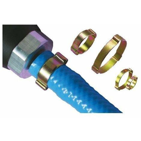 Collier a oreilles pour tuyaude 15 a 18 mm bte 100