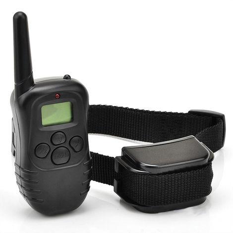 Collier anti-aboiement de collier de choc électrique à distance de 300M de diamètre avec bip / vibration / choc collier de dressage pour chien de compagnie pour 1 chien avec écran LCD