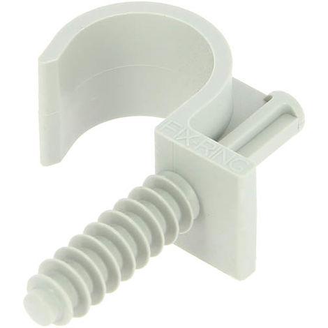 Collier cheville simple gris RAMCLIP pour gaine souple Ø22