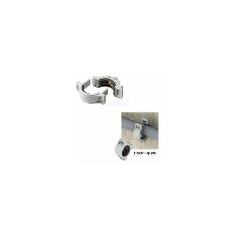 Collier de fixation FLIP ISO / taraudage M8/M10 diamètre 56 à 62mm - boite de 20 pièces - ING FIXATION - A181235.