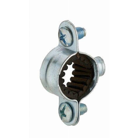 Collier de fixation isophonique simple en acier zingué pour tube NOYON & THIEBAULT - Ø 12 mm Pas de vis m7x150 Sachet 5 pces - 6212-S5