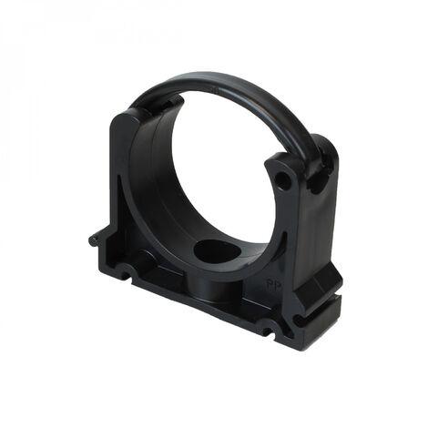 Collier de fixation pour tuyau en PVC - 63 mm - Noir - Linxor