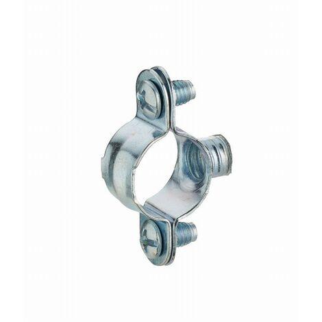 Collier de fixation simple en acier zingué pour tube NOYON & THIEBAULT - Ø 12 mm Pas de vis m7x150 Sachet 10 pces - 6612-S10