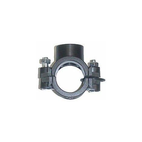 Collier de prise en charge en polyépropylène - Pour raccordement polyéthylène - Diamètre 50 mm - 20/27