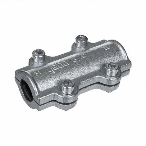 Collier de réparation long pour tube acier 50x60