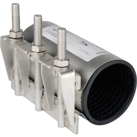 Collier de réparation pour tube rigide Pe-Pvc-Acier-Fonte Ø114/125 - Sferaco