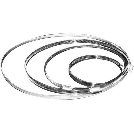 Collier de serrage alu 60-135mn , conduit de ventilation