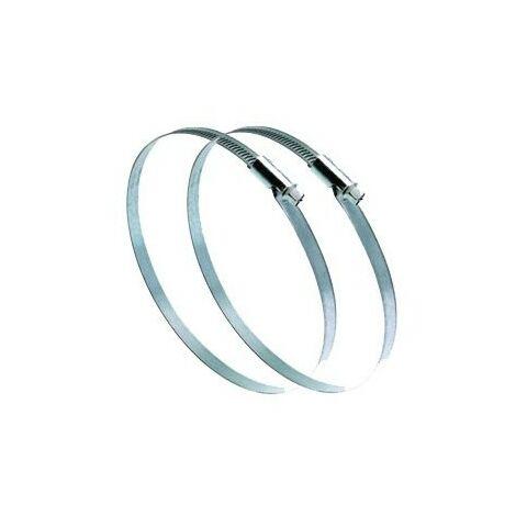 Collier de serrage réglable plat C125G - Pour conduits de 80 à 125mm