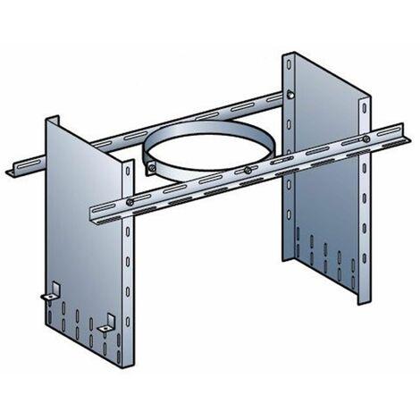 Collier de soutien réhausse de 40 cm pour poêle à granulés - PGI pour poêles à Pellets - Diamètre 80 / 130 - Réf : CSR