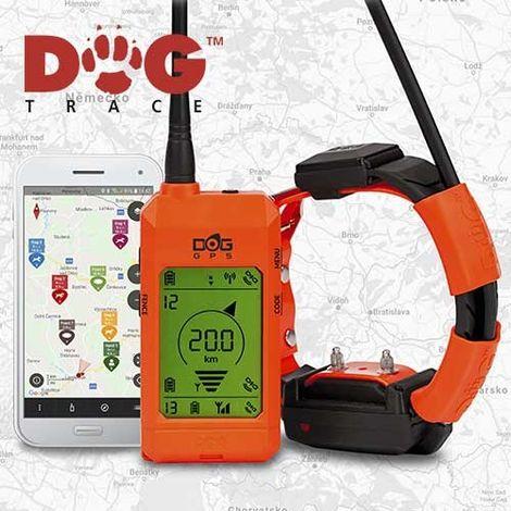 Collier GPS Localisateur Pour Chiens Dogtrace Gamme X30 20 Kilomètres, fonctions d'entraînement incluses, fonctionne avec l'application et le contrôle Smartphone, Nouvelle version 2019