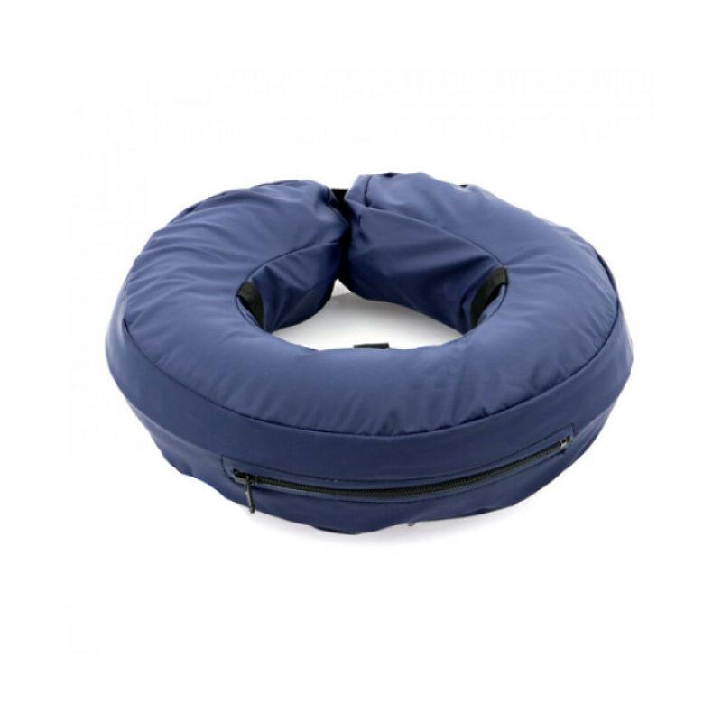 Collier lune protection gonflable Carcan anti léchage pour chien et chat T1 bleu chat