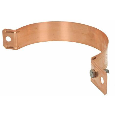 Collier pour descentes de gouttière Ø 100 mm Cu avec alésage Ø 11 mm
