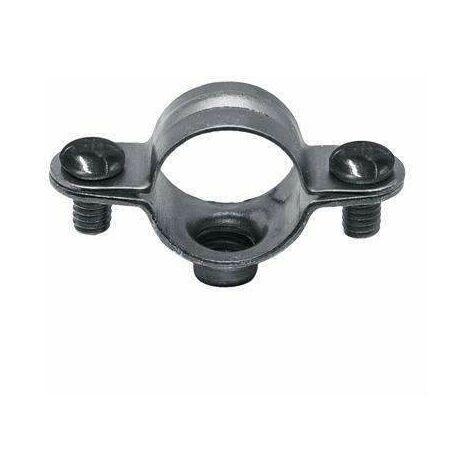 20 Pi/èces Colliers de fixation de tubes P-Clips de serrage avec insert en caoutchouc choix Band 20mm /Ø 8mm