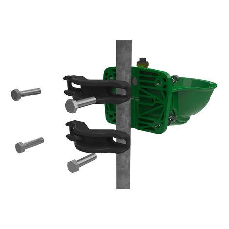 Colliers de fixation pour abreuvoir chauffant émaillé avec soupape tubulaire - H10 - 2 fixations