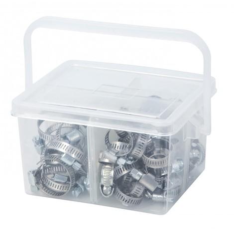 bon ajustement meilleures offres sur conception de la variété Colliers de serrage acier largeur 9mm en coffret de 80