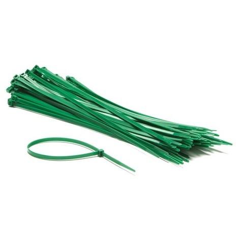 Colliers De Serrage En Nylon - 4.8 X 300 Mm - Vert (100 Pcs)