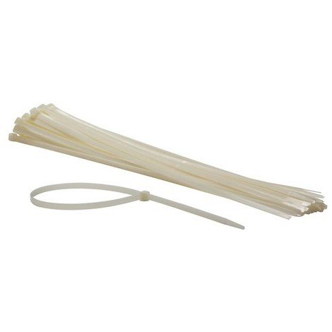 Colliers De Serrage En Nylon - 9 X 610 Mm - Blanc (50 Pcs)