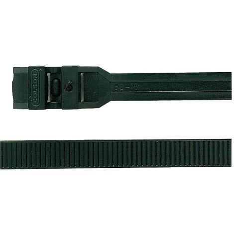 Colliers de serrage intérieur/extérieur x20 - Largeur 7,6mm - Long. 128mm - Noir