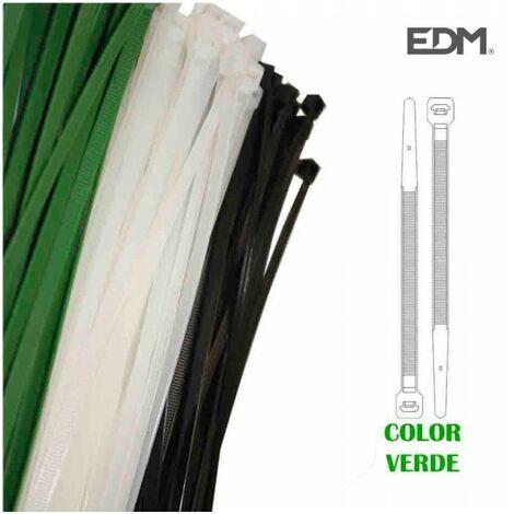 COLLIERS DE SERRAGE PLASTIQUE VERT 380x4,8 MM (SACHET 100 U.)