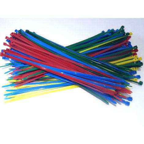 Colliers de serrage Rilsan Nylon de 4 couleurs 300 mm x 4,8 mm 200 pièces