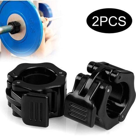 Colliers d'haltères, colliers d'haltères attaches d'haltères barres d'haltères attache colliers d'haltères pour diamètre de trou 30 mm -1 paire