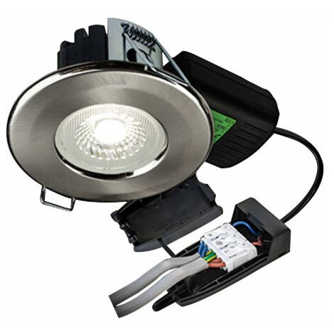 Collingwood Halers H2 Lite 500 Brushed Steel LED Downlight With Terminal Block 60 Degree - Wall Colour Switchable