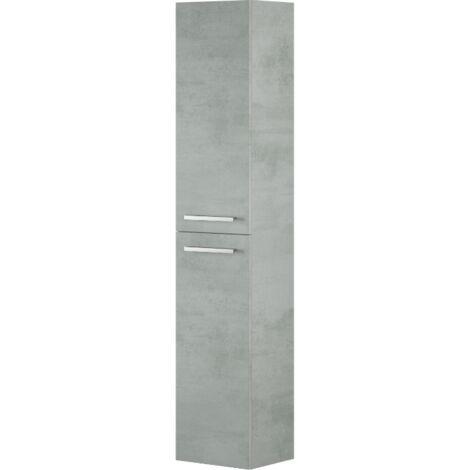 Colonna bagno sospesa 2 ante Cemento | Cemento - 305460L