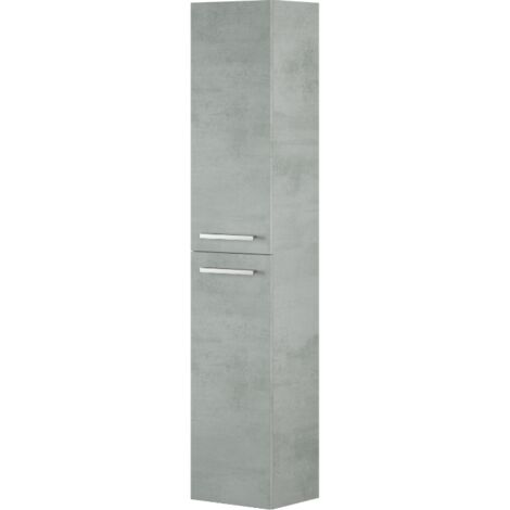 Colonna bagno sospesa 2 ante Cemento | Cemento