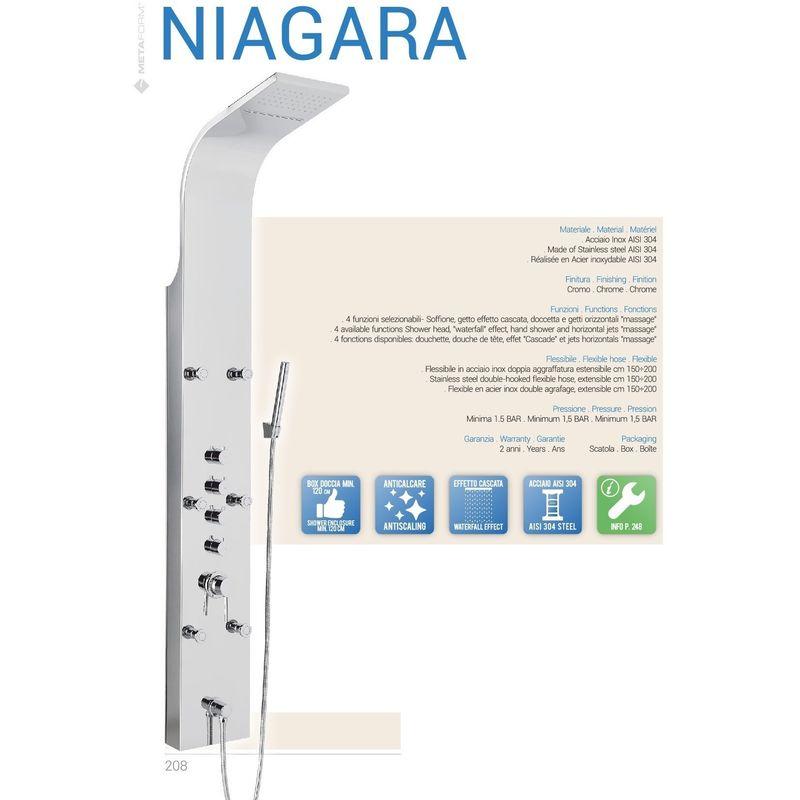 Colonna Doccia Termostatica Niagara.Colonna Doccia Acciaio Serie Niagara Art 101b59100