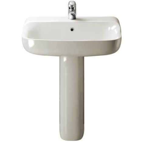 Colonna per lavabo serie conca bianco ideal standard t009800 for Ideal standard conca visone