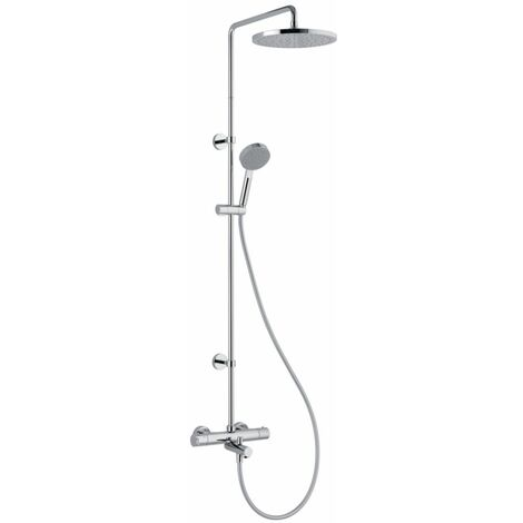 Colonne bain douche ALTERNA PLENITUDE avec mitigeur thermostatique chrome, Ref.EL504151CR