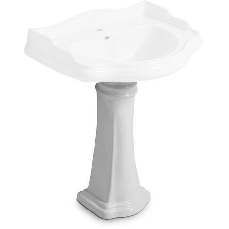 Colonne céramique pour lavabo rétro Chambord - Ondyna WCH6430