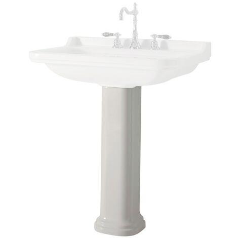 Colonne céramique pour lavabo Waldorf 60,80 et 100 cm - Ondyna WD4170