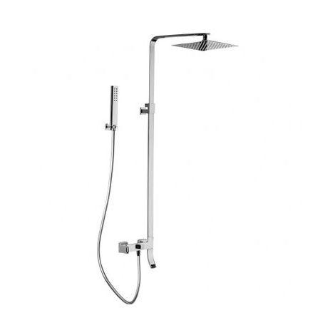Colonne de baignoire mécanique tete carree en inox SLIM
