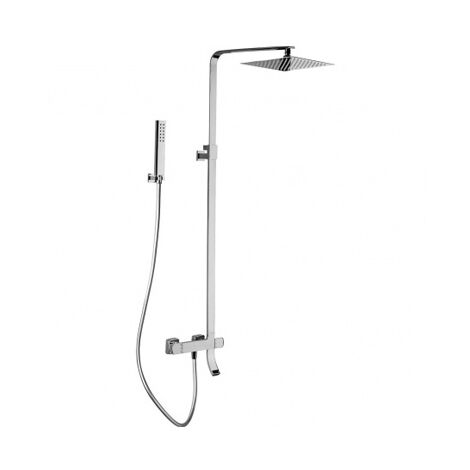 Colonne de baignoire thermostatique tete carree en inox SLIM