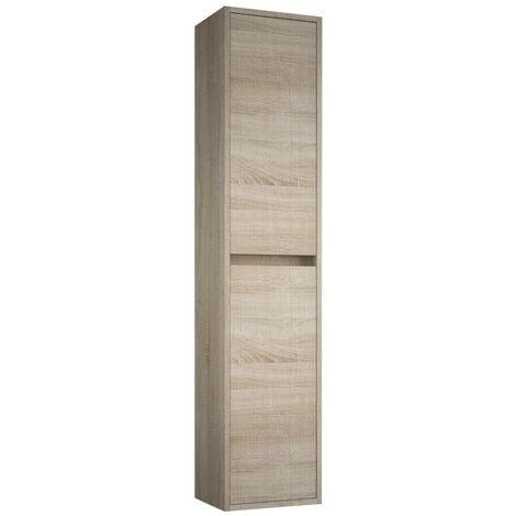 Colonne de bain suspendu moderne en bois marron Caledonia | Caledonia marron